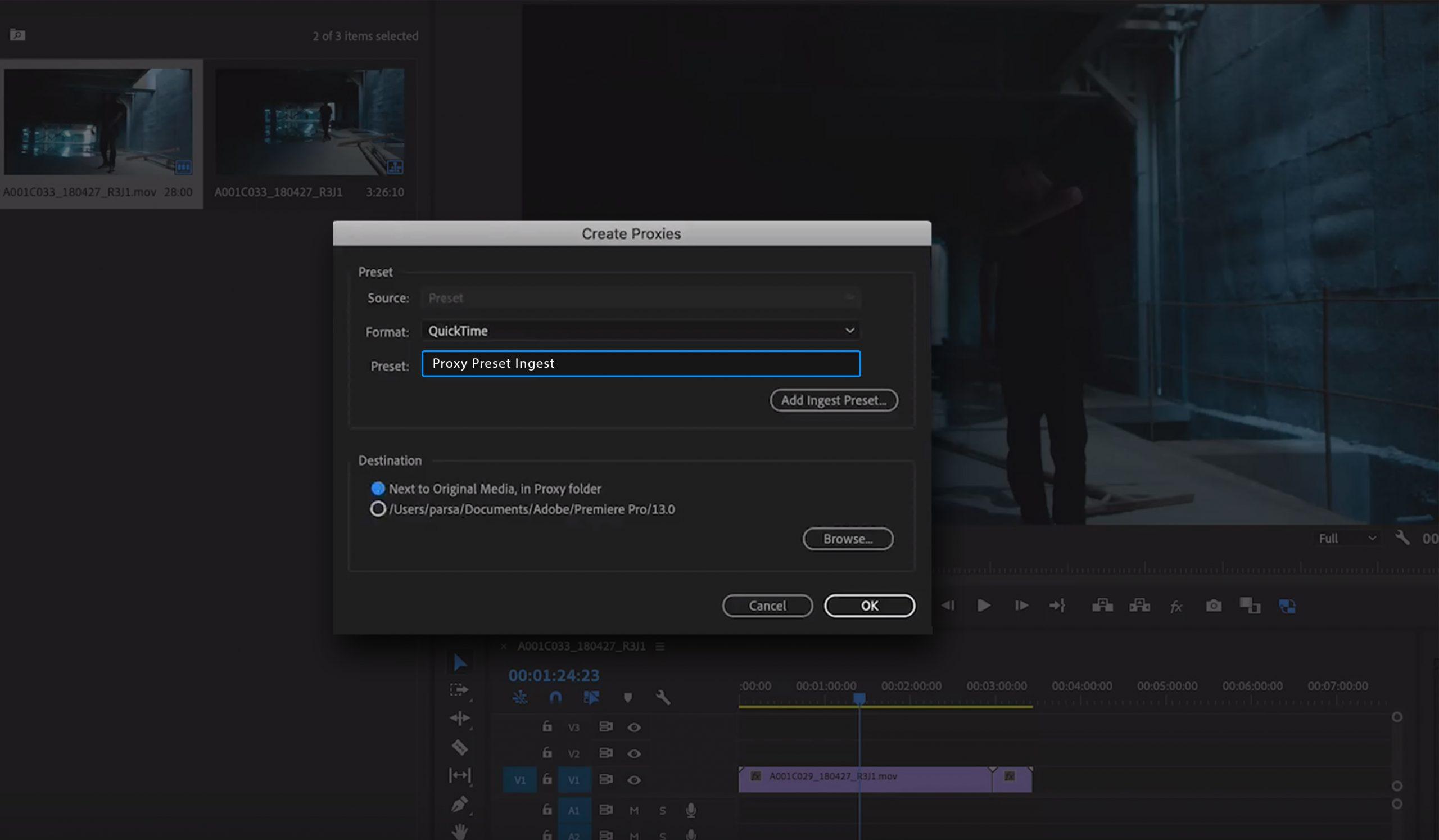4k video editing create proxy premiere pro