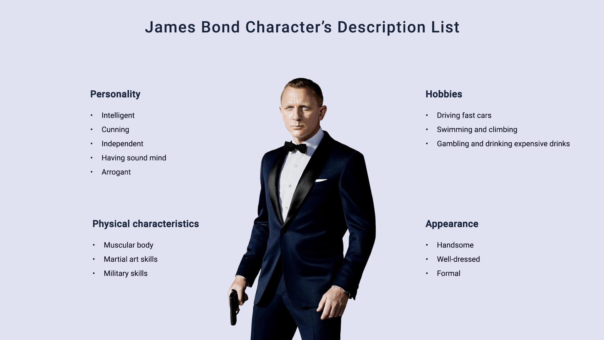 james-bond-Character's-Description-List