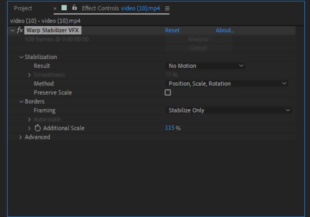 Warp-Stabilizer-VFX-Settings